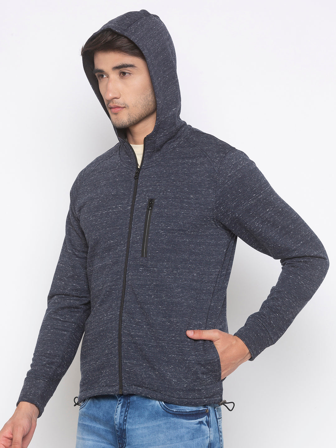Globus Grey Solid Jacket-2