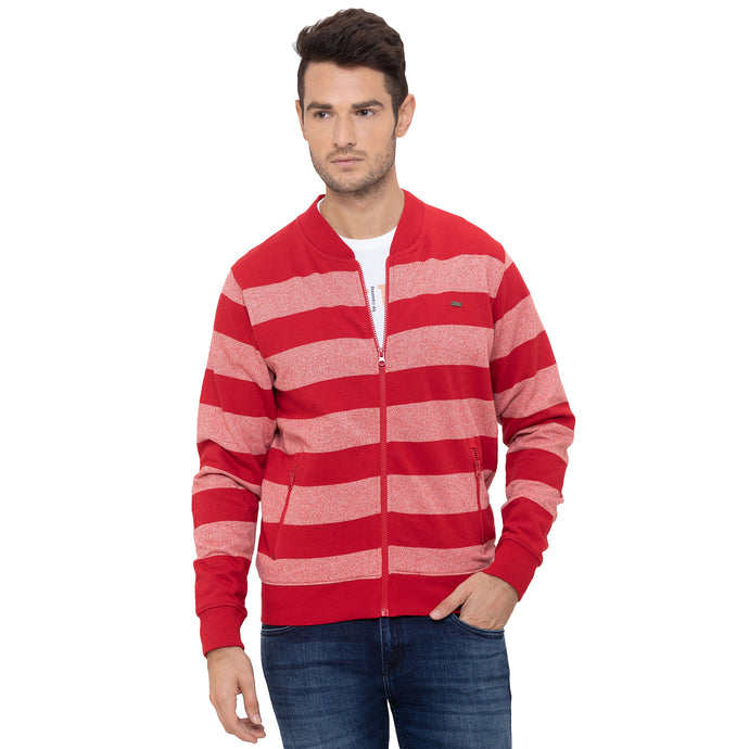 Globus Red Striped Sweatshirt-1