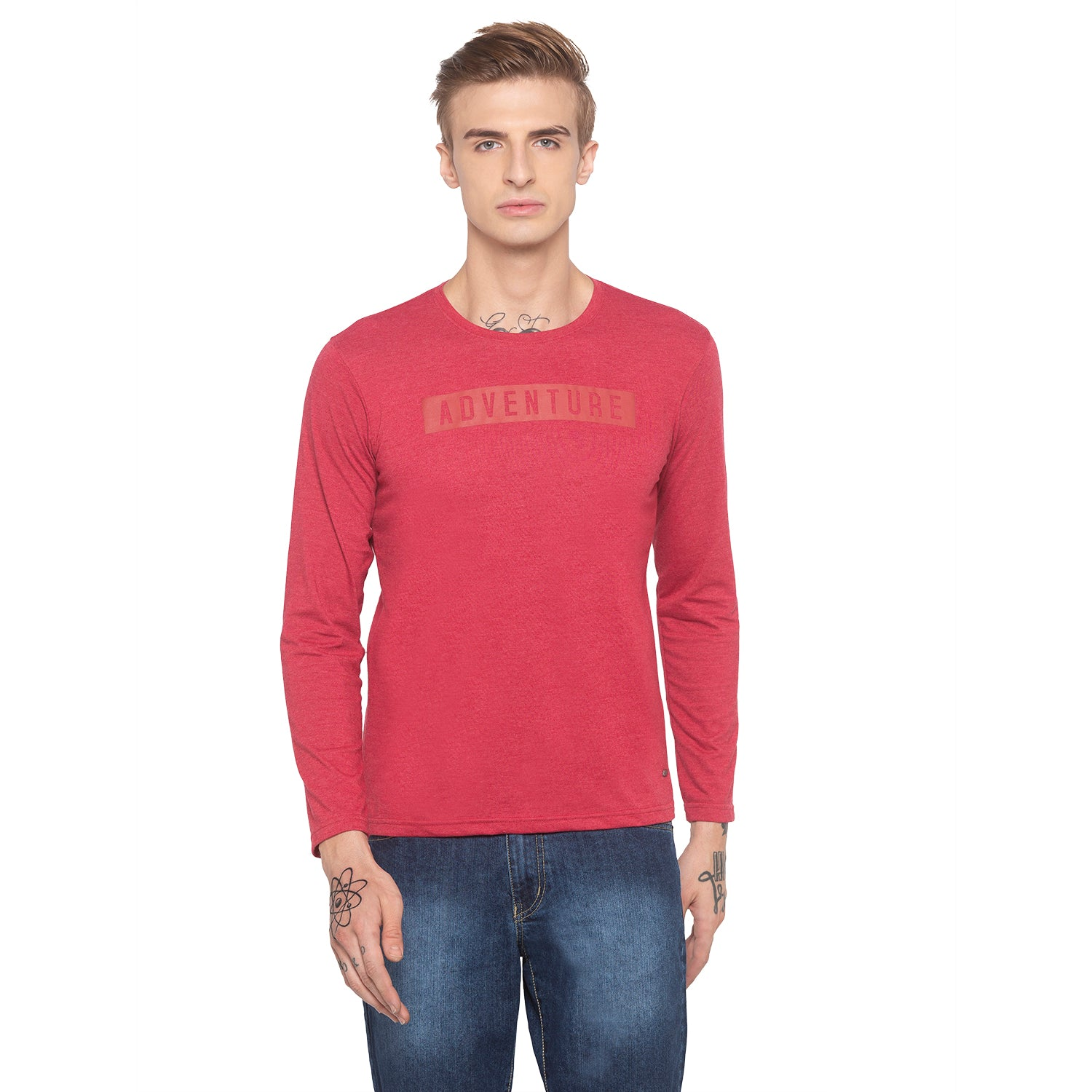 Adventure Full Sleeve Red T-shirt-1