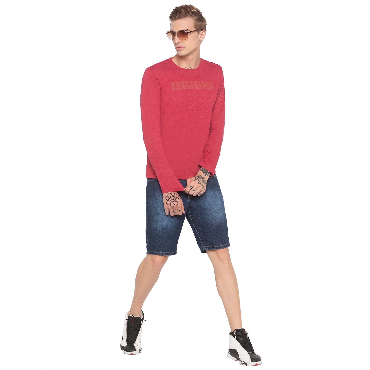 Adventure Full Sleeve Red T-shirt-4