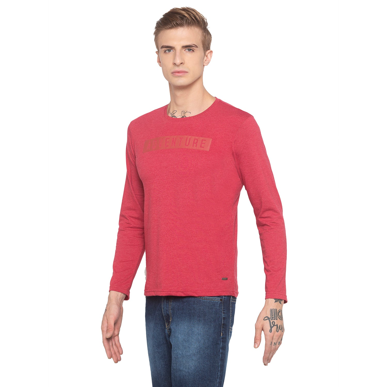 Adventure Full Sleeve Red T-shirt-2