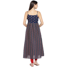 Load image into Gallery viewer, Blue Printed A-Line Kurta-3