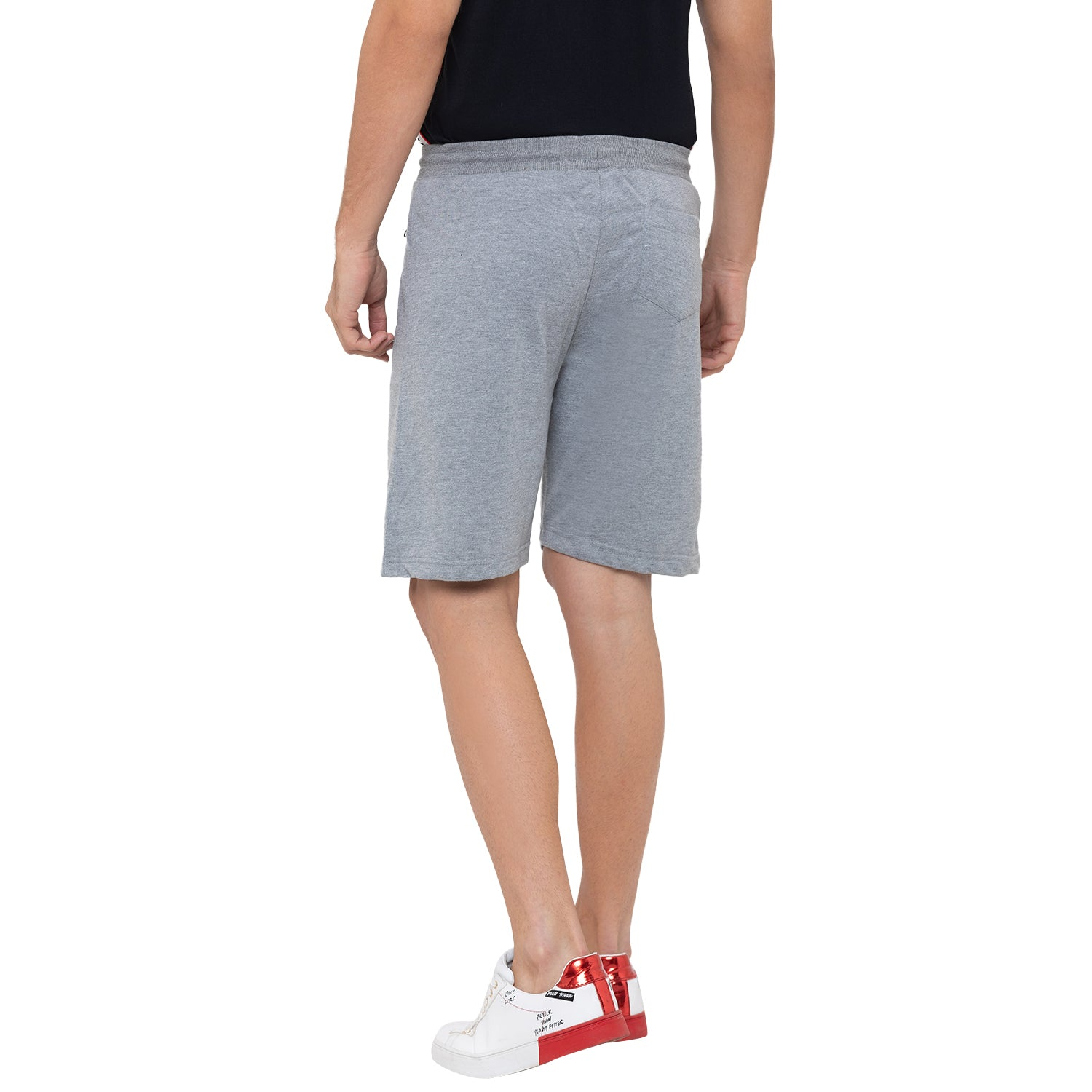 Globus Grey Solid Shorts-3
