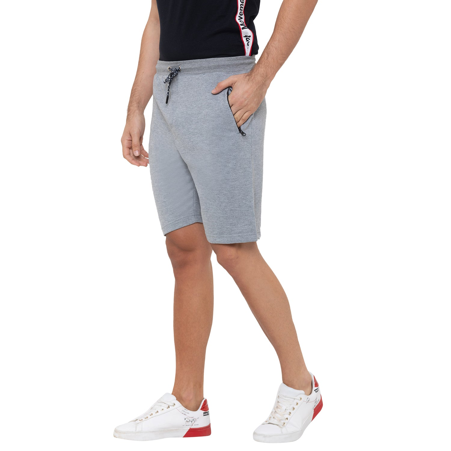 Globus Grey Solid Shorts-4