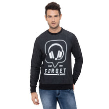 Load image into Gallery viewer, Globus Black Printed Sweatshirt-1