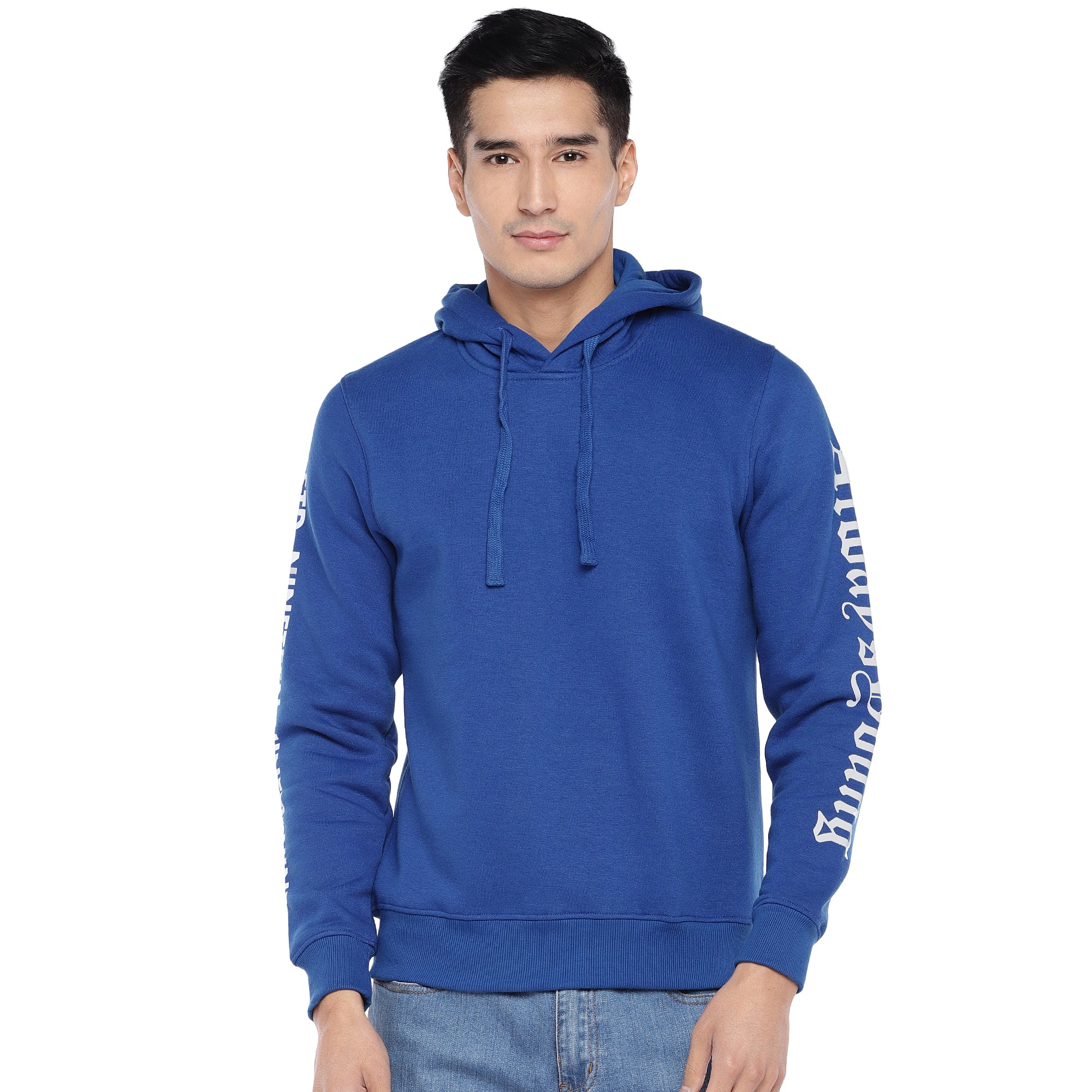 Blue Solid Sweatshirt-1