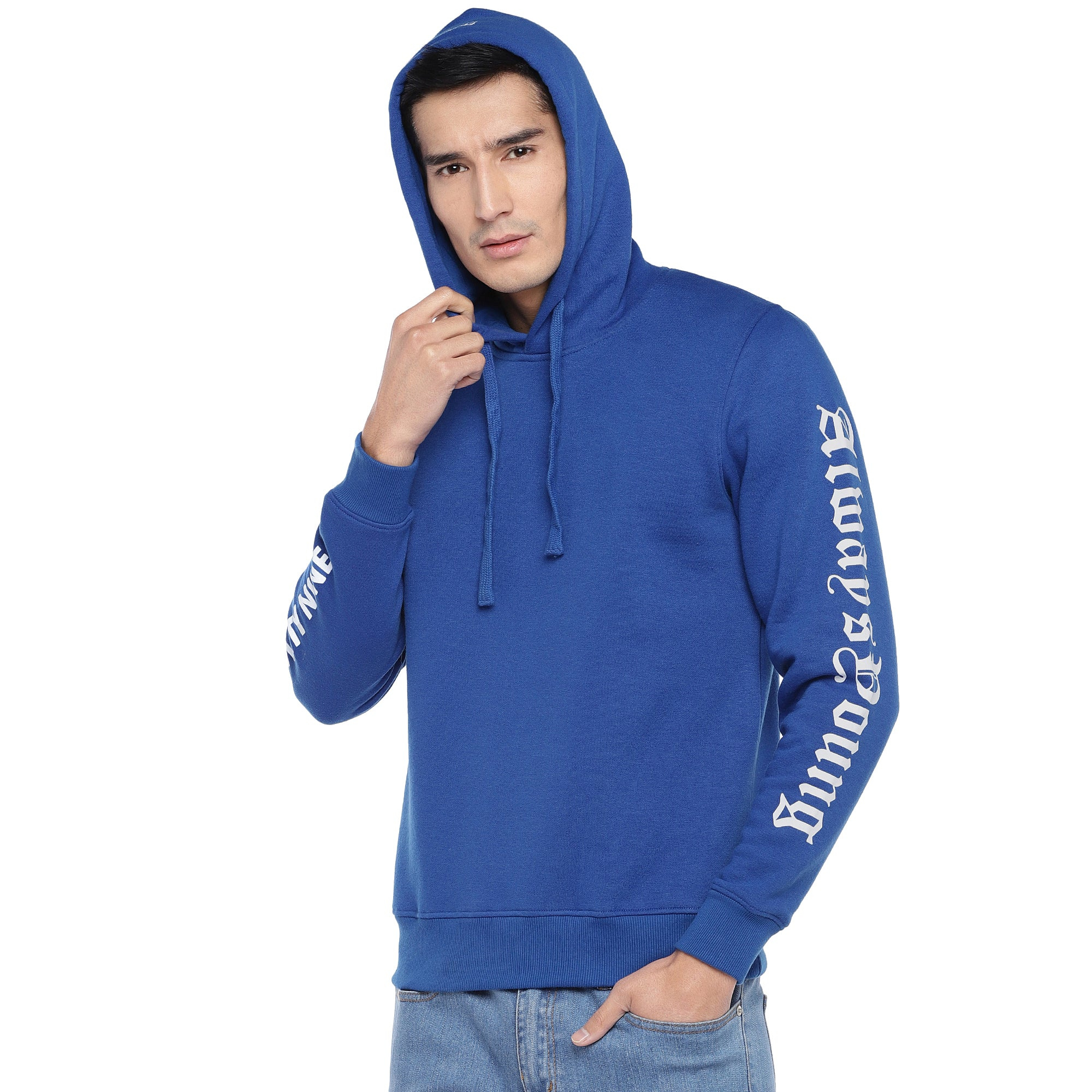 Blue Solid Sweatshirt-2