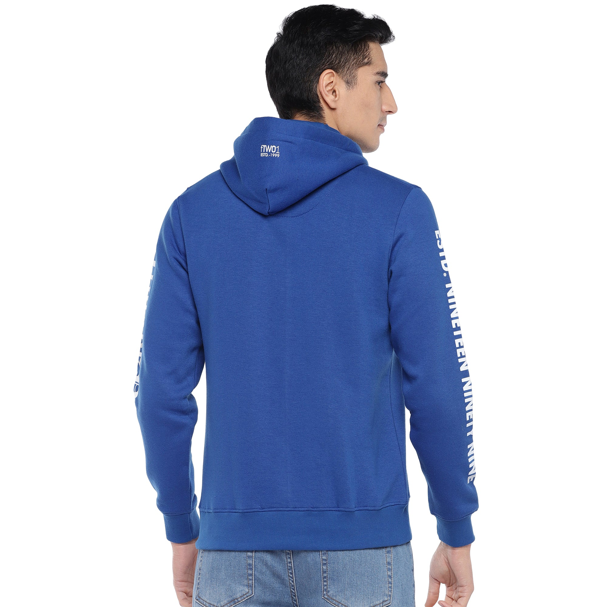 Blue Solid Sweatshirt-3