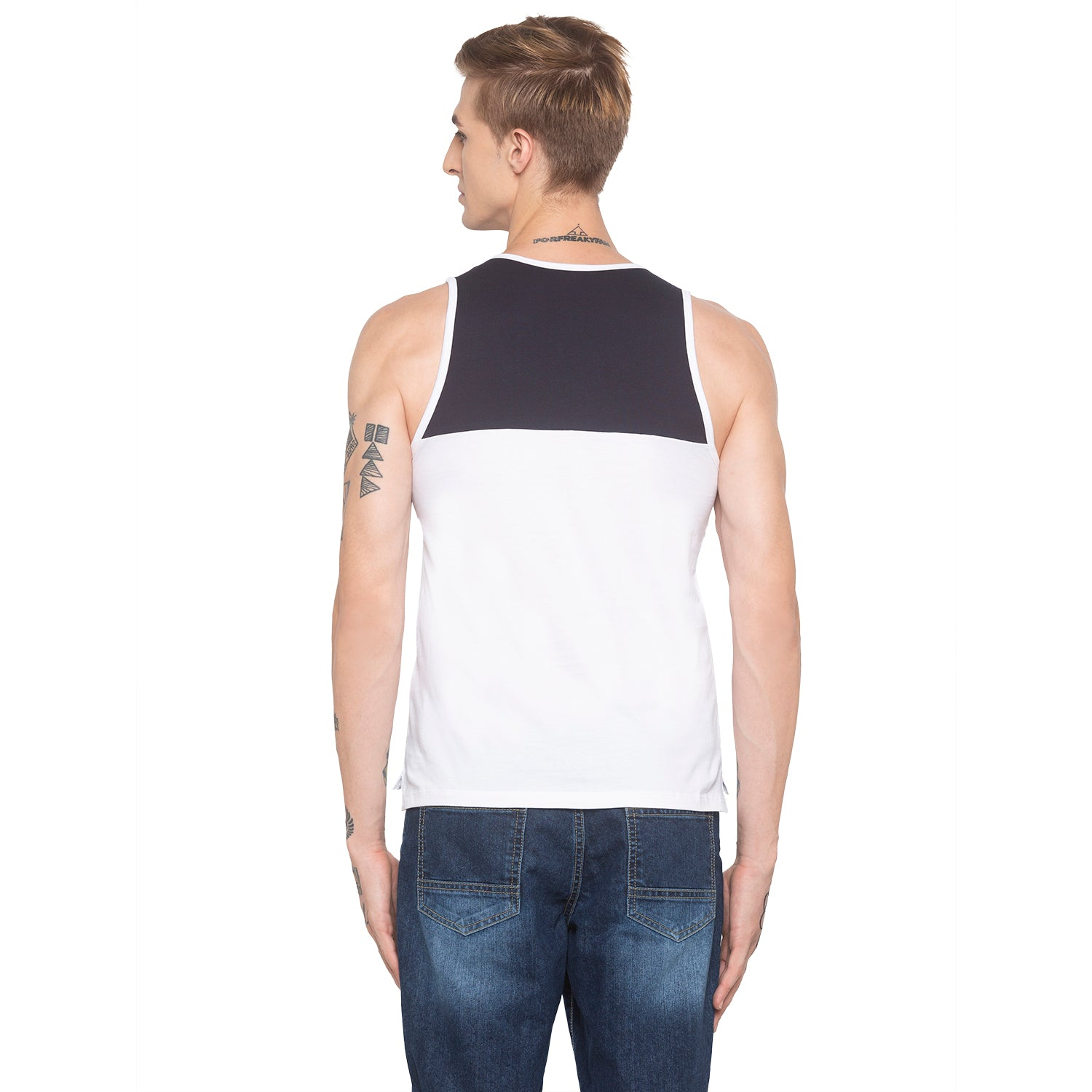 Racerback Sleeveless White T-shirt-3