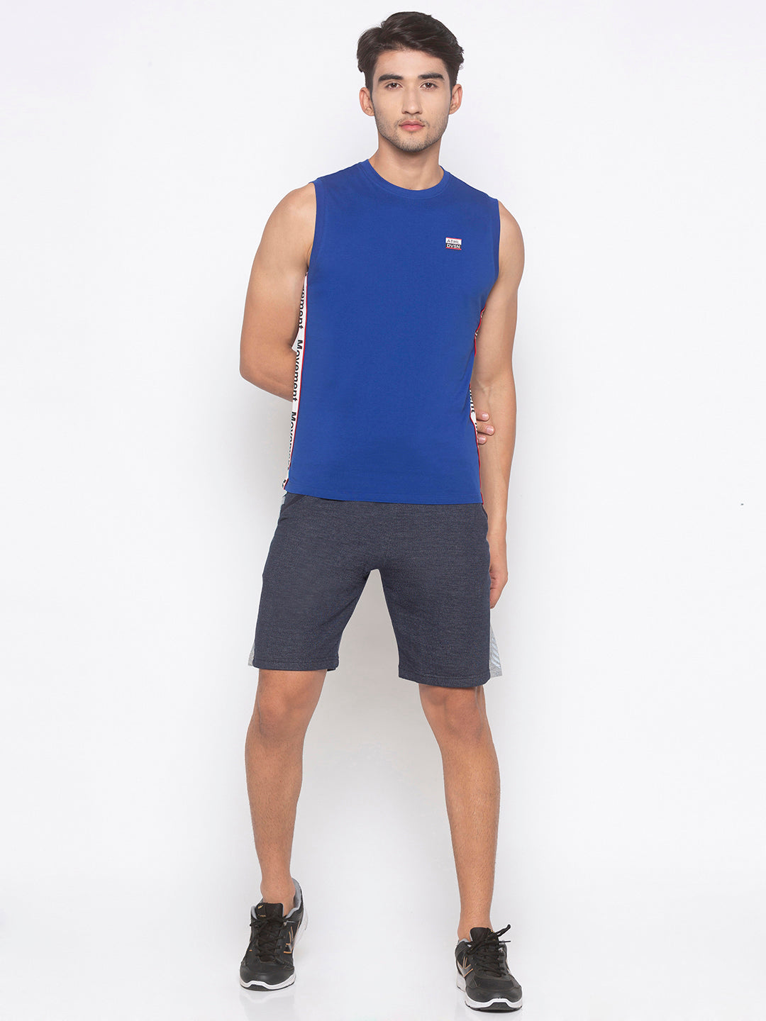 Globus Blue Solid T-Shirt-4