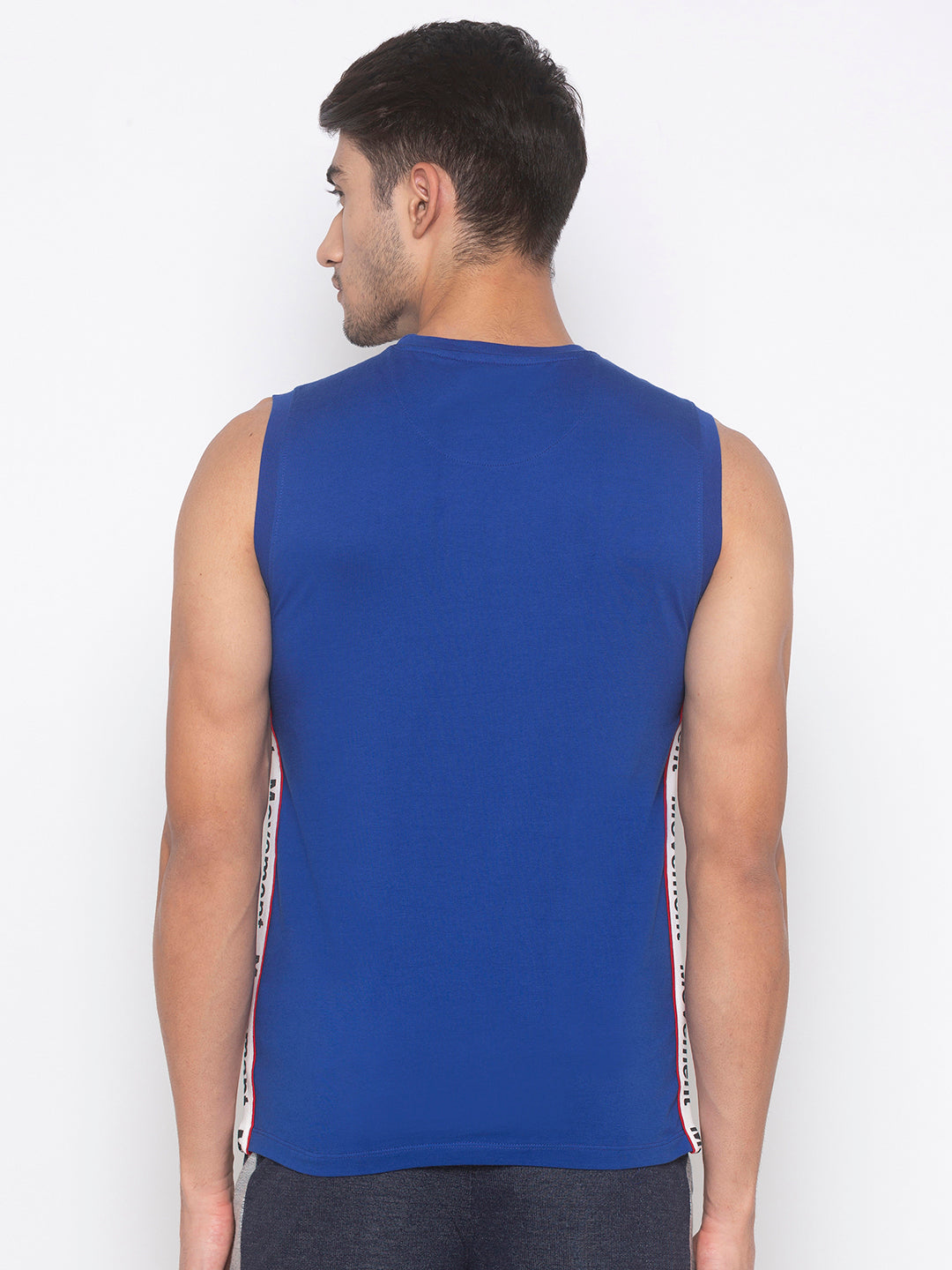 Globus Blue Solid T-Shirt-3