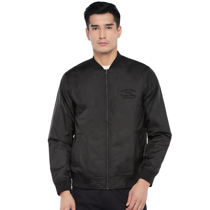 Black Solid Jacket-1
