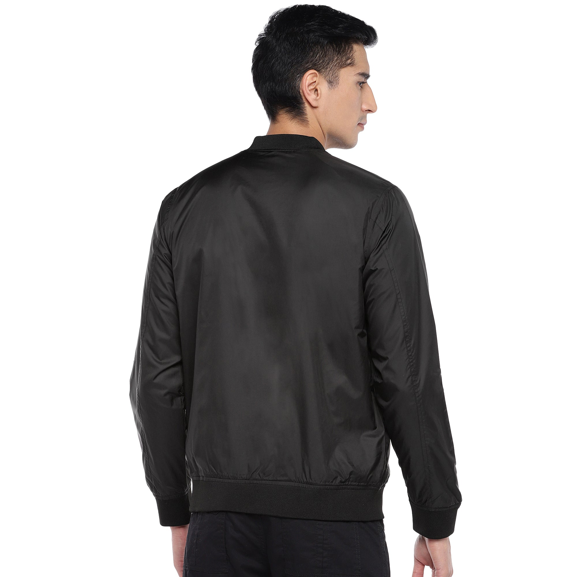 Black Solid Jacket-3