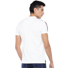 Load image into Gallery viewer, White Printed Polo T-Shirt-3