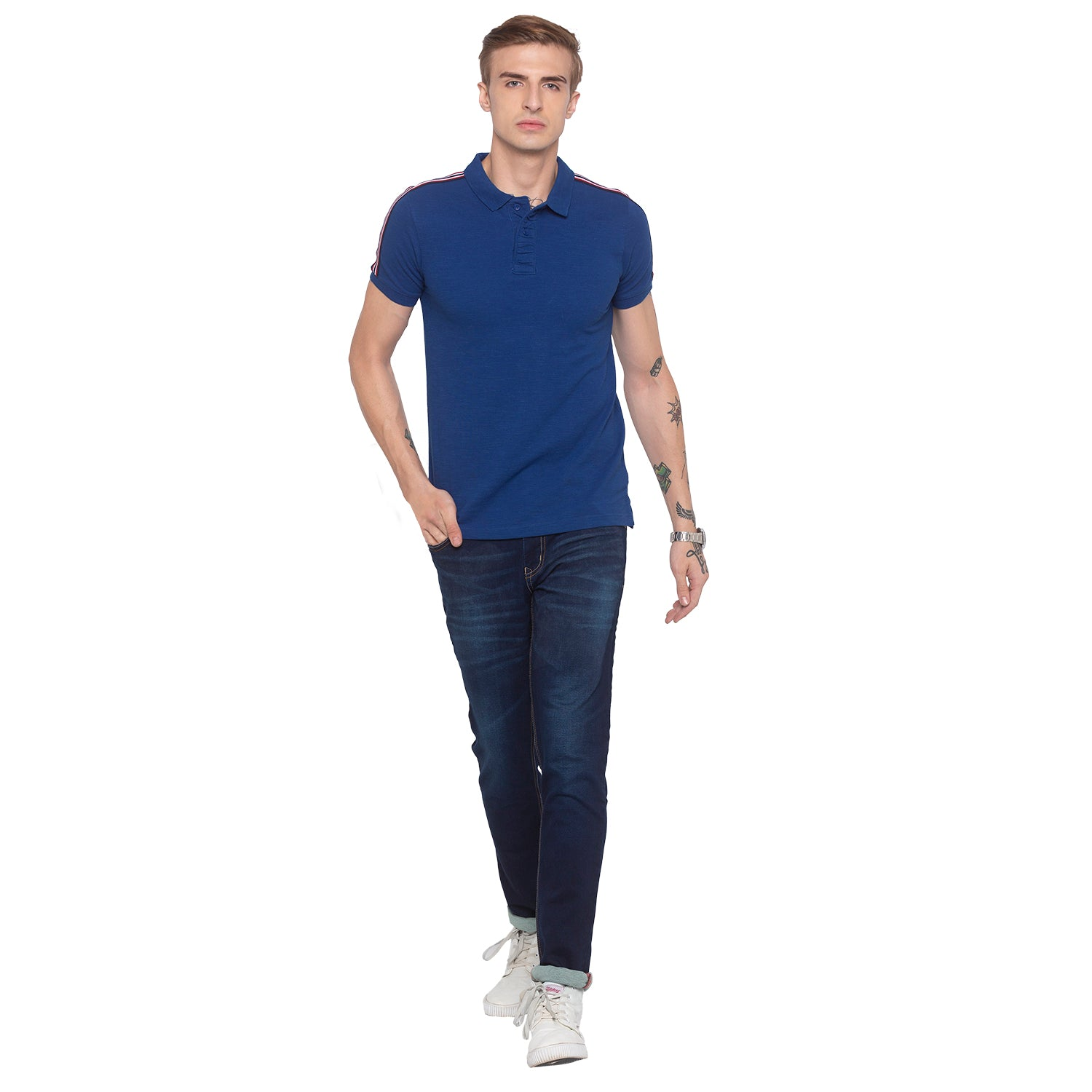 Electric Blue Polo T-shirt-4