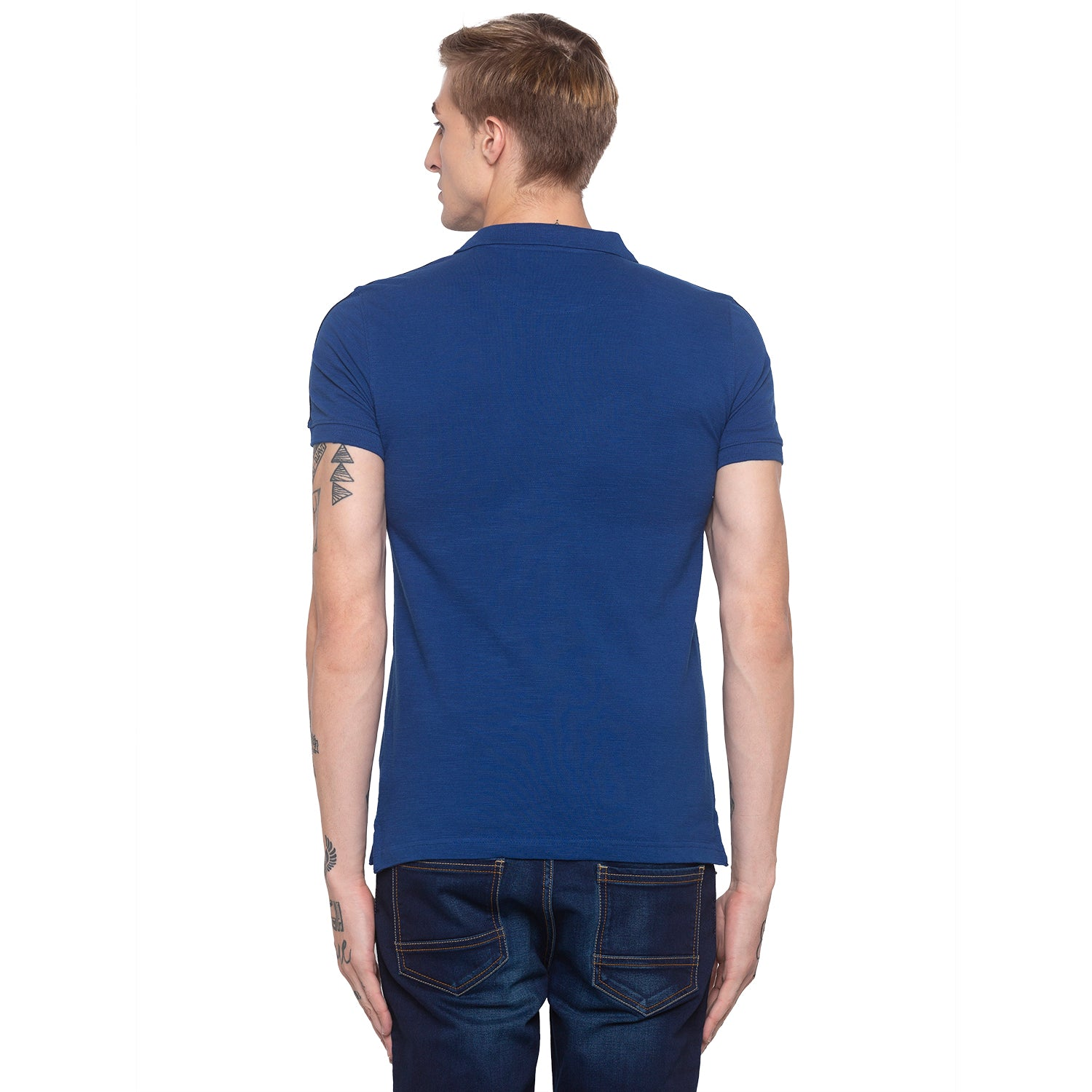 Electric Blue Polo T-shirt-3