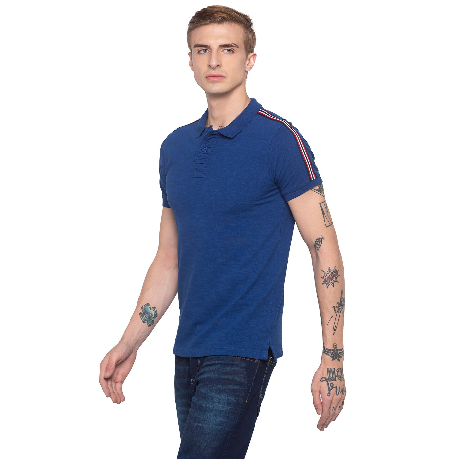 Electric Blue Polo T-shirt-2