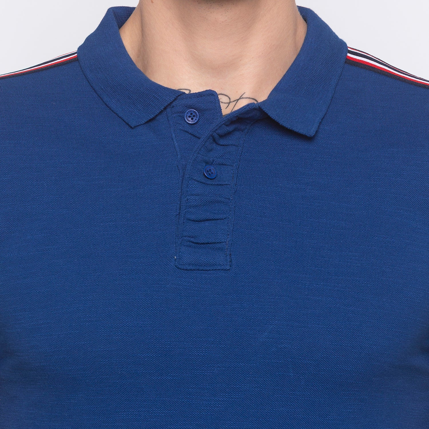 Electric Blue Polo T-shirt-5