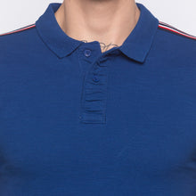 Load image into Gallery viewer, Electric Blue Polo T-shirt-5