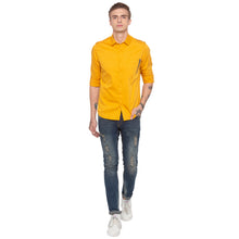 Load image into Gallery viewer, Solid Mustard Casual Shirt-4
