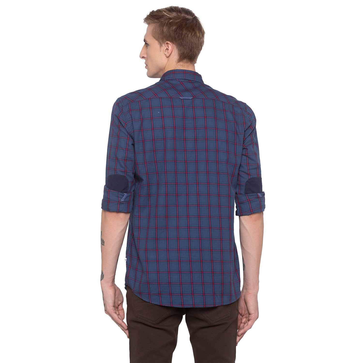 Checked Navy Blue Shirt-3