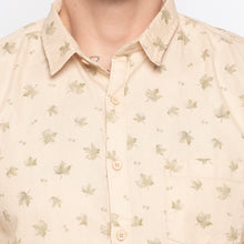 Load image into Gallery viewer, Maple Leaf Print Beige Casual Shirt-5