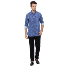 Load image into Gallery viewer, Globus Blue Printed Shirt-2