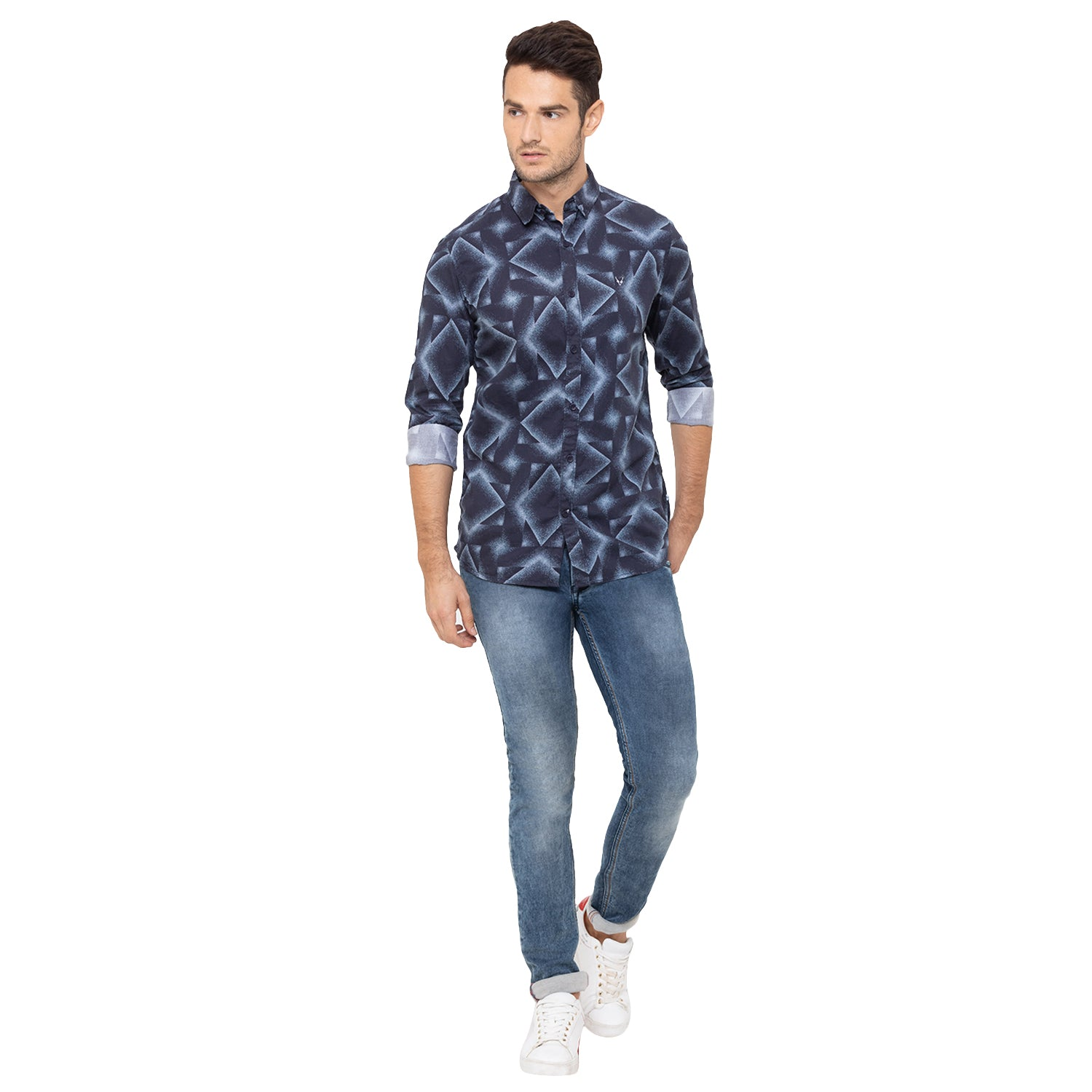 Globus Blue Printed Shirt-2