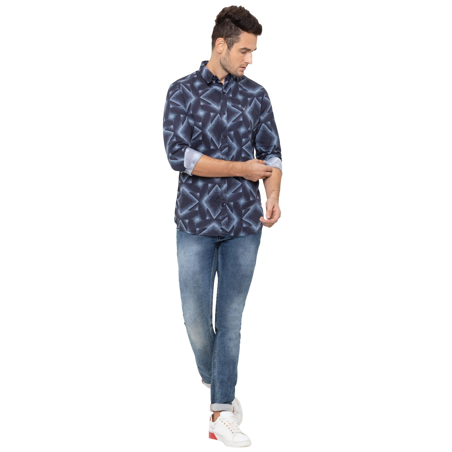 Globus Blue Printed Shirt-6