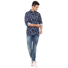 Load image into Gallery viewer, Globus Blue Printed Shirt-6