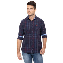 Load image into Gallery viewer, Globus Navy Blue Checked Shirt-1
