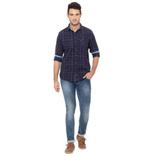 Load image into Gallery viewer, Globus Navy Blue Checked Shirt-2