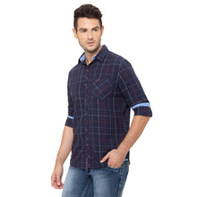 Load image into Gallery viewer, Globus Navy Blue Checked Shirt-4
