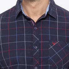 Load image into Gallery viewer, Globus Navy Blue Checked Shirt-5