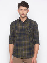 Load image into Gallery viewer, Globus Olive Checked Shirt-1