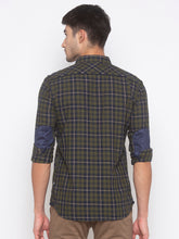 Load image into Gallery viewer, Globus Olive Checked Shirt-3