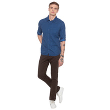 Load image into Gallery viewer, Window Pane Checked Blue Shirt-4