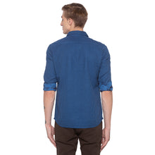 Load image into Gallery viewer, Window Pane Checked Blue Shirt-3