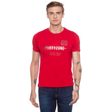 Load image into Gallery viewer, Foil Print Red Party T-shirt-1