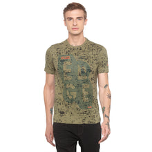 Load image into Gallery viewer, Graphic Print Olive T-shirt-1
