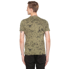 Load image into Gallery viewer, Graphic Print Olive T-shirt-3