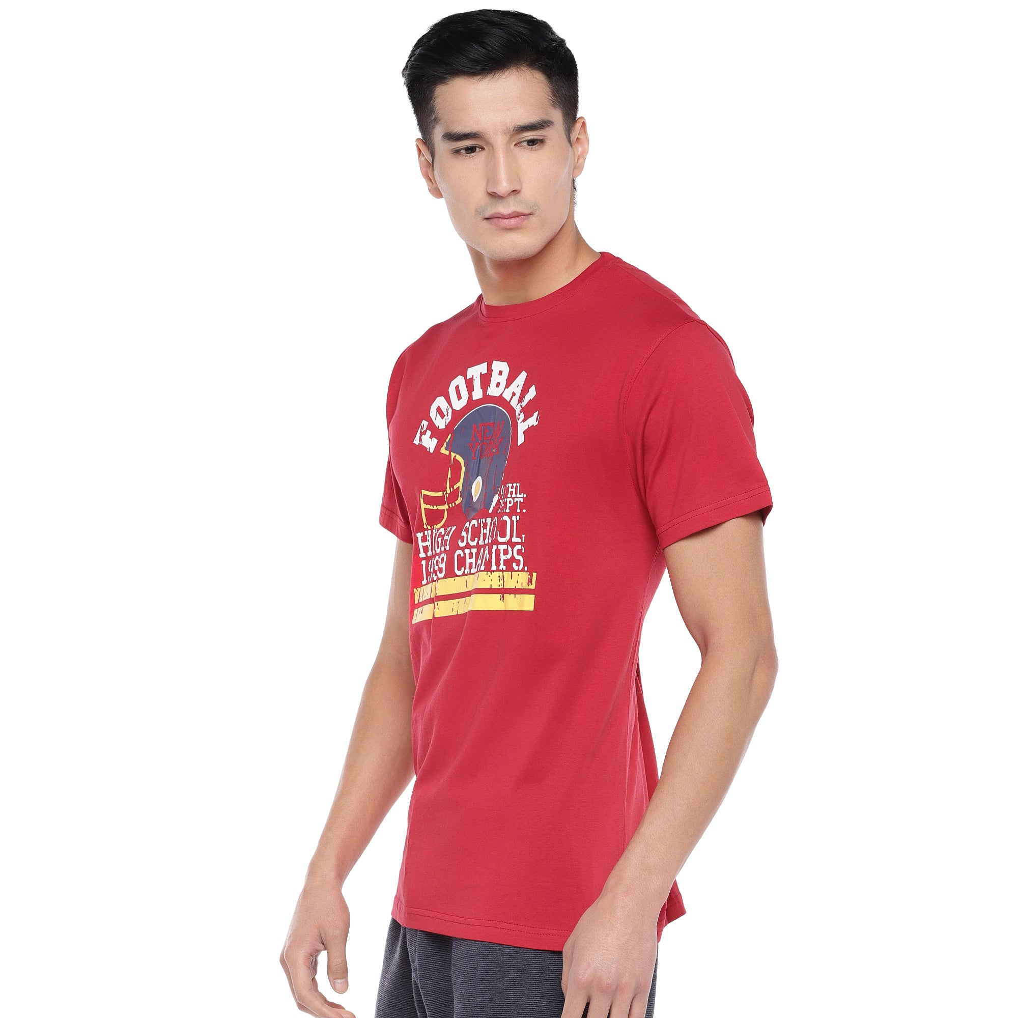 Red Printed T-Shirt-2