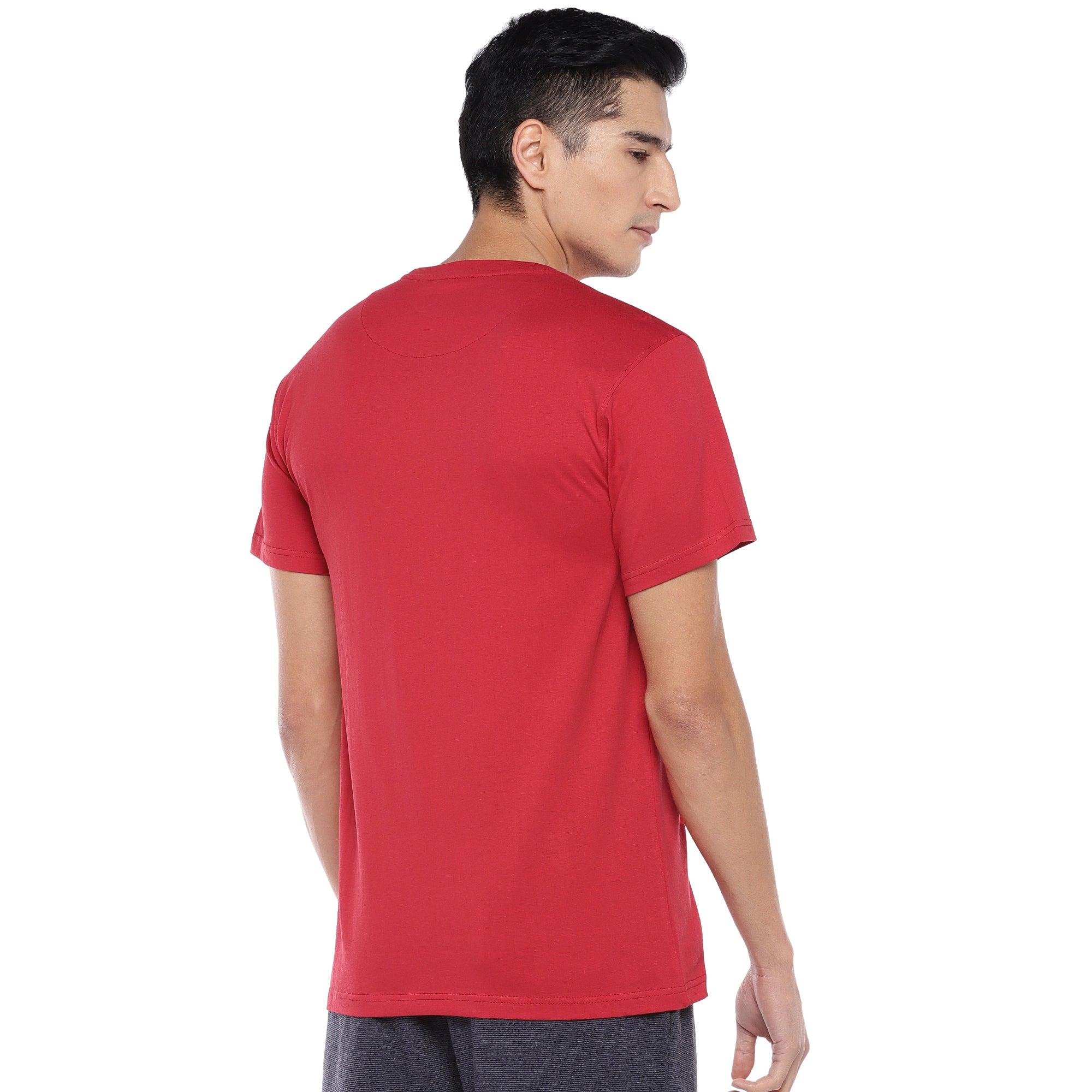 Red Printed T-Shirt-3
