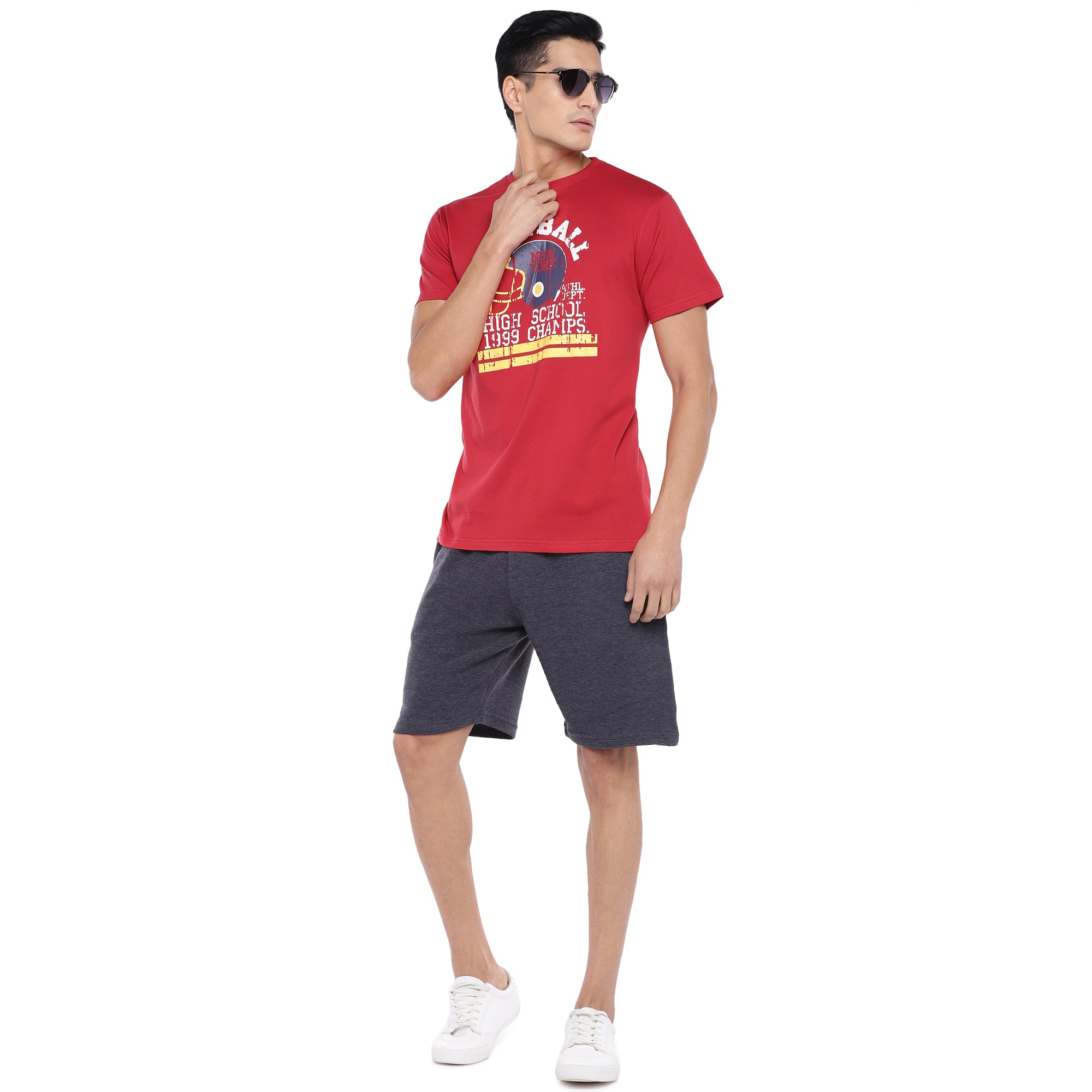 Red Printed T-Shirt-4