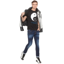 Load image into Gallery viewer, Yin Yang Print Black T-shirt-4