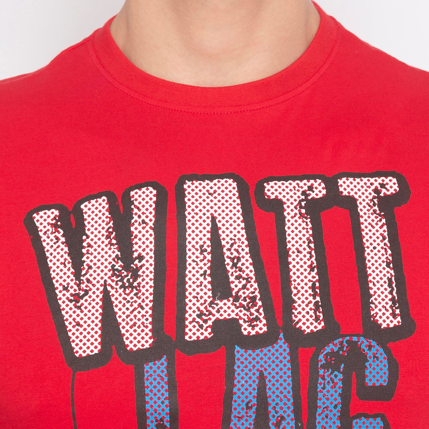 Humor Typography Print Red T-shirt-5