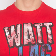 Load image into Gallery viewer, Humor Typography Print Red T-shirt-5