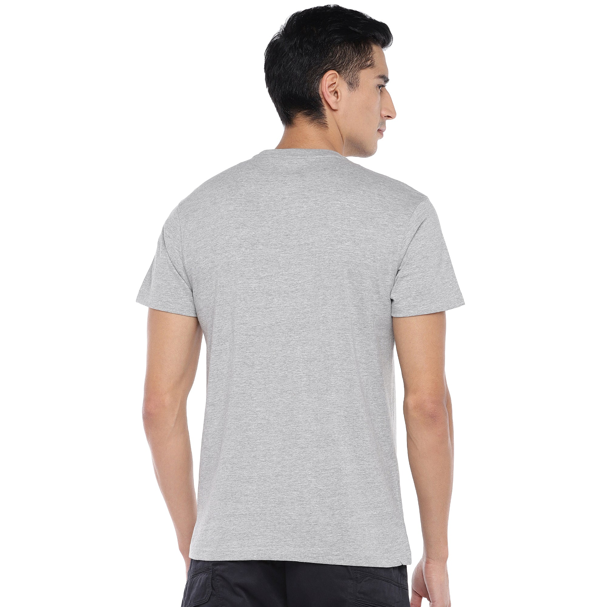 Grey Printed T-Shirt-3