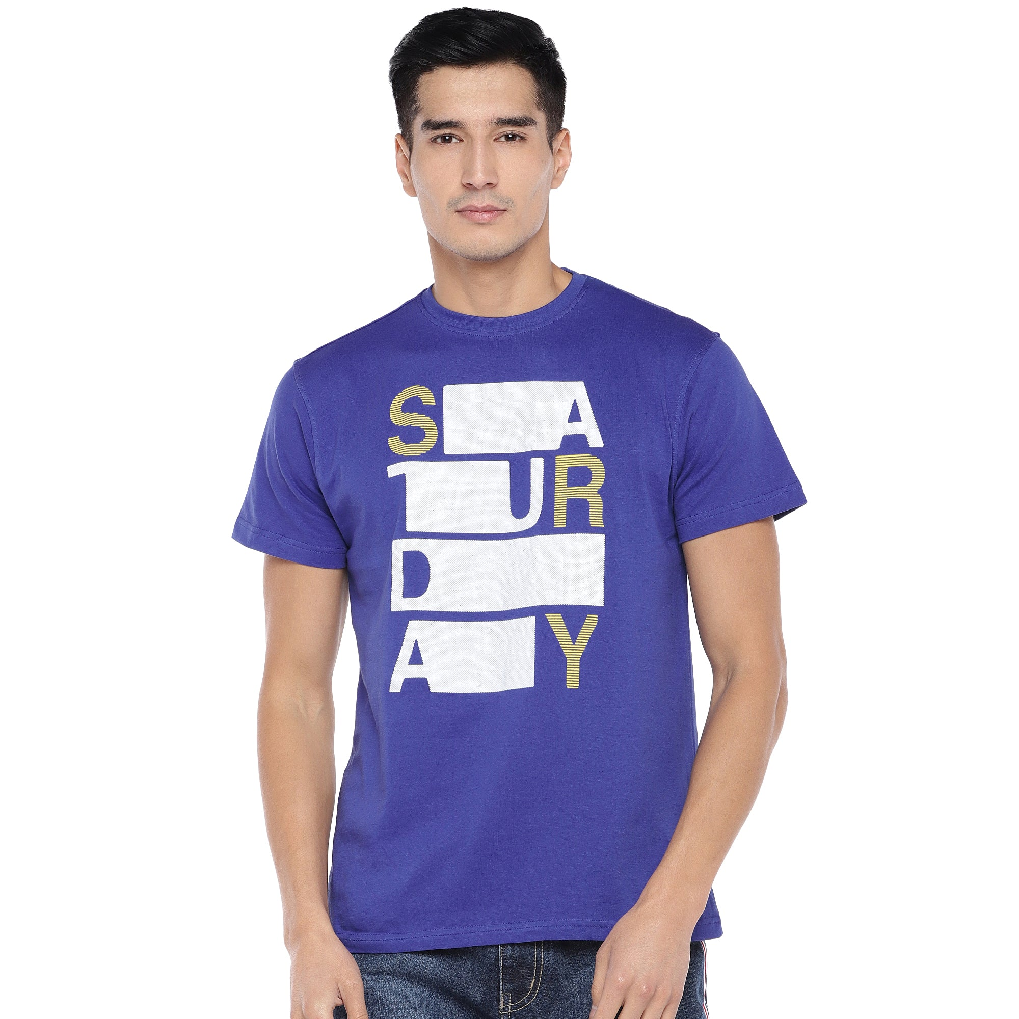 Blue Printed T-Shirt-1