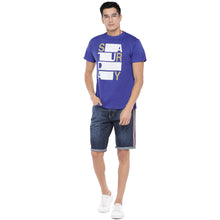 Load image into Gallery viewer, Blue Printed T-Shirt-4